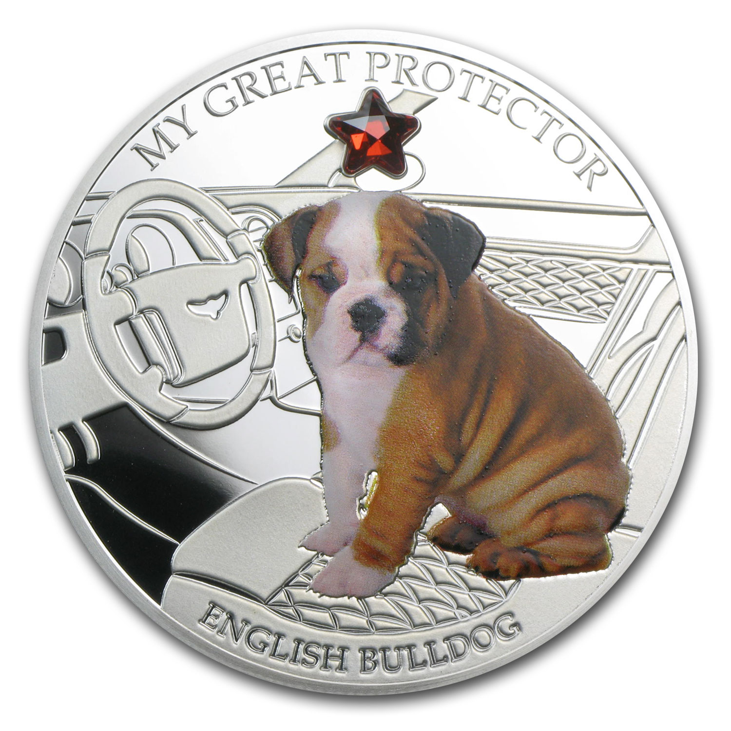 2013 Fiji Silver Dogs & Cats Series Grt Protector English Bulldog
